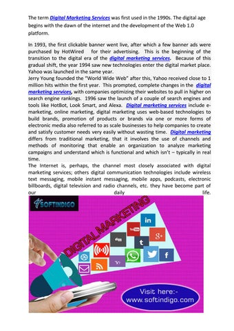 digital marketing service offerings by softindigo com by softindigo