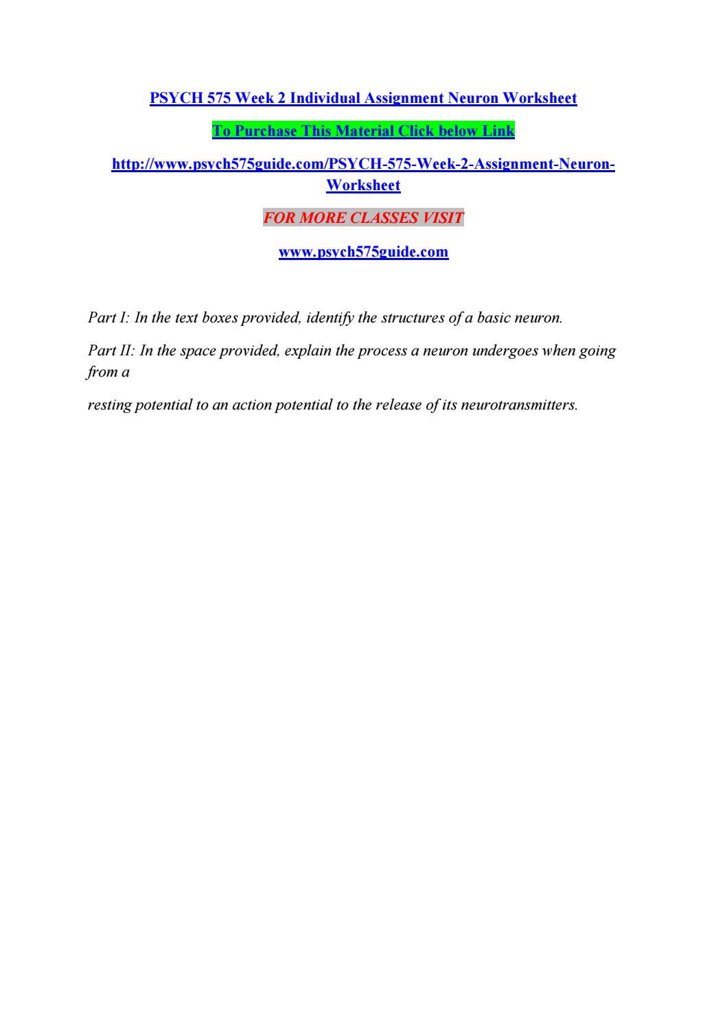 worksheet Neuron Worksheet psych 575 week 2 individual assignment neuron worksheet by watsonmiclasa issuu