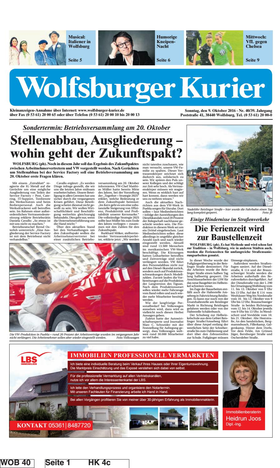 2016 10 09 by wolfsburger kurier - issuu, Hause ideen