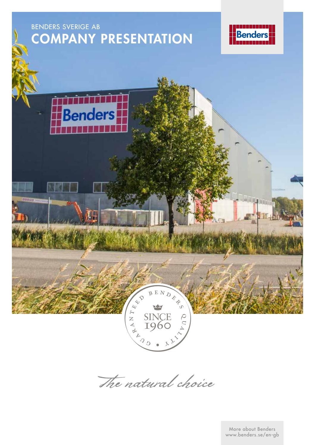 EN Company presentation 2016 by Benders Sverige AB - issuu