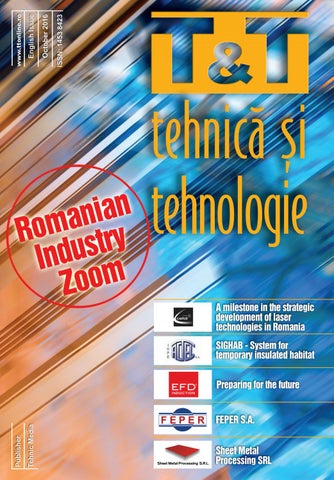 T&T - Tehnică si Tehnologie - English issue October 2016 by TEHNIC