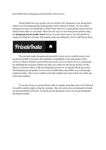 The best way to view private Instagram by peeterson - issuu