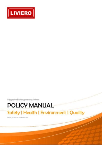 GS PR 01 SHEQ Policy Manual [00 ] by Liviero - issuu