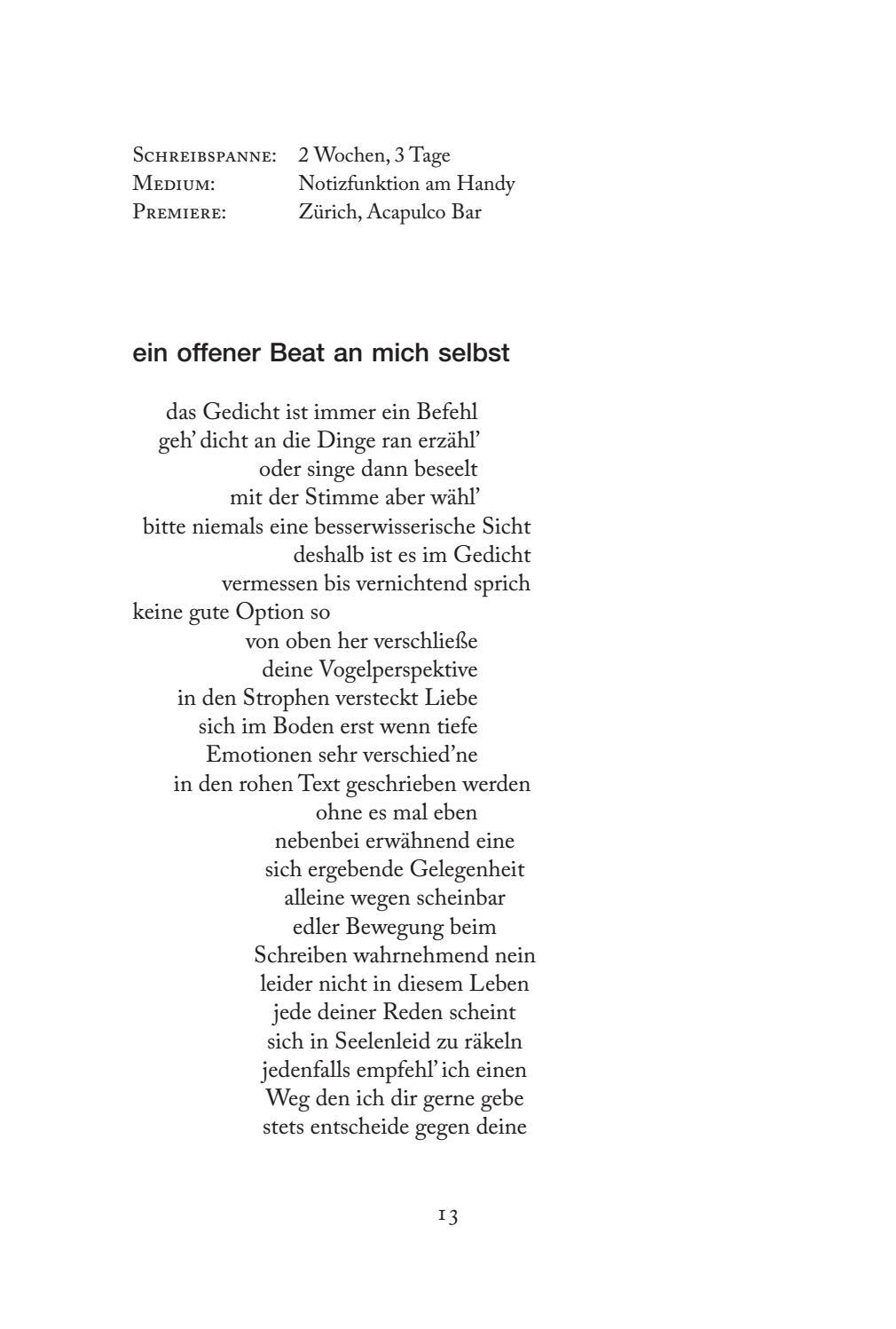 Gedicht selber schreiben