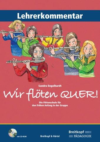 BV 395 - Engelhardt, Wir flöten quer! - Lehrerkommentar by Breitkopf ...