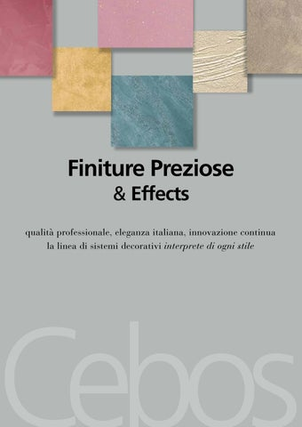 Cebos Каталог Finiture Preziose & Effects edizione 2016 - ITA -
