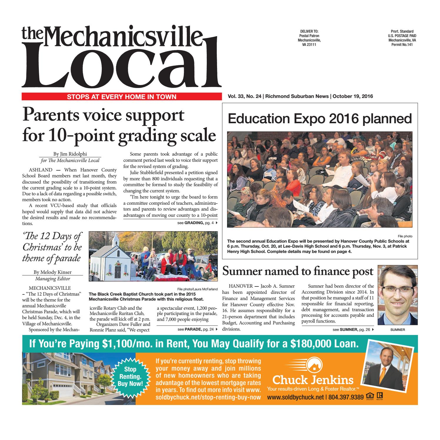 10/19/16 by The Mechanicsville Local - issuu