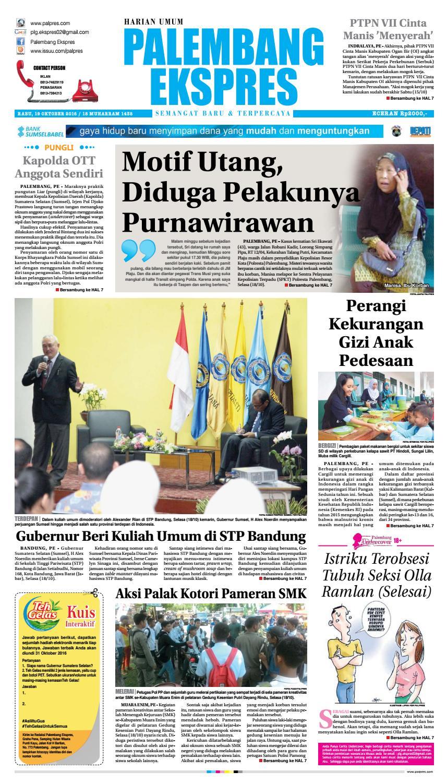 Palembang Ekspres Rabu 19 Oktober 2016 By Palembang Ekspres Issuu