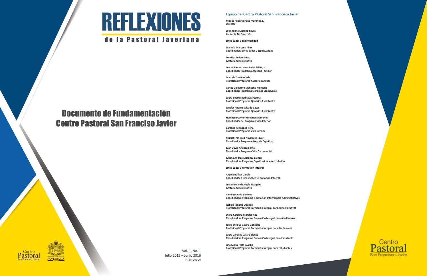 Documento De Fundamentación By Centro Pastoral San Francisco