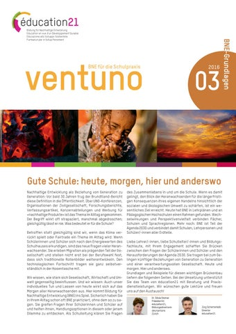 Ventuno 3 | 2016 BNE-Grundlagen by education21ch - issuu