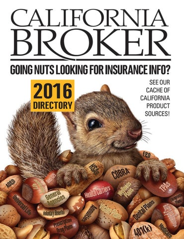 California broker directory 2016 by California Broker