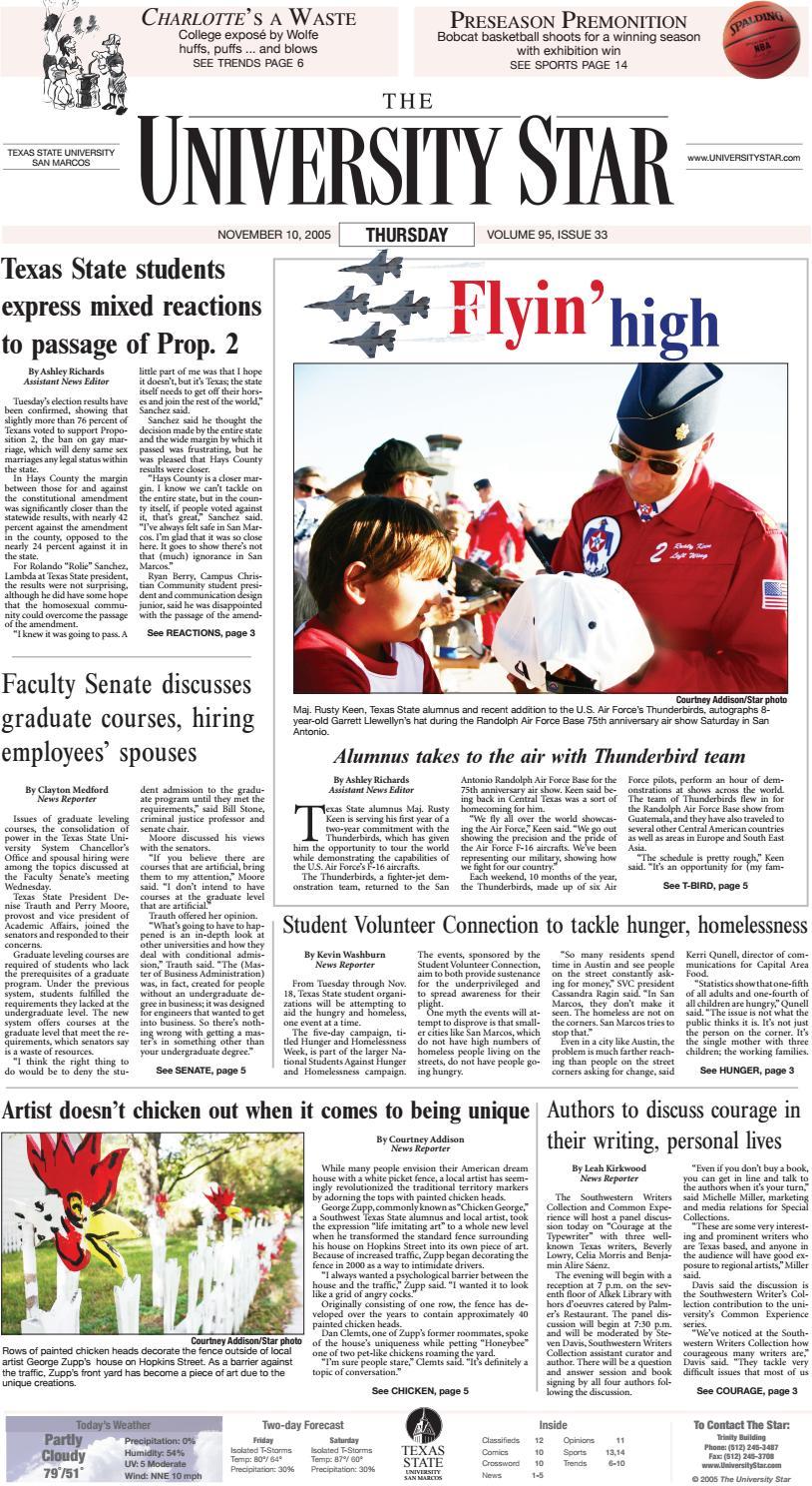 1debb622019 11 10 2005 by The University Star - issuu