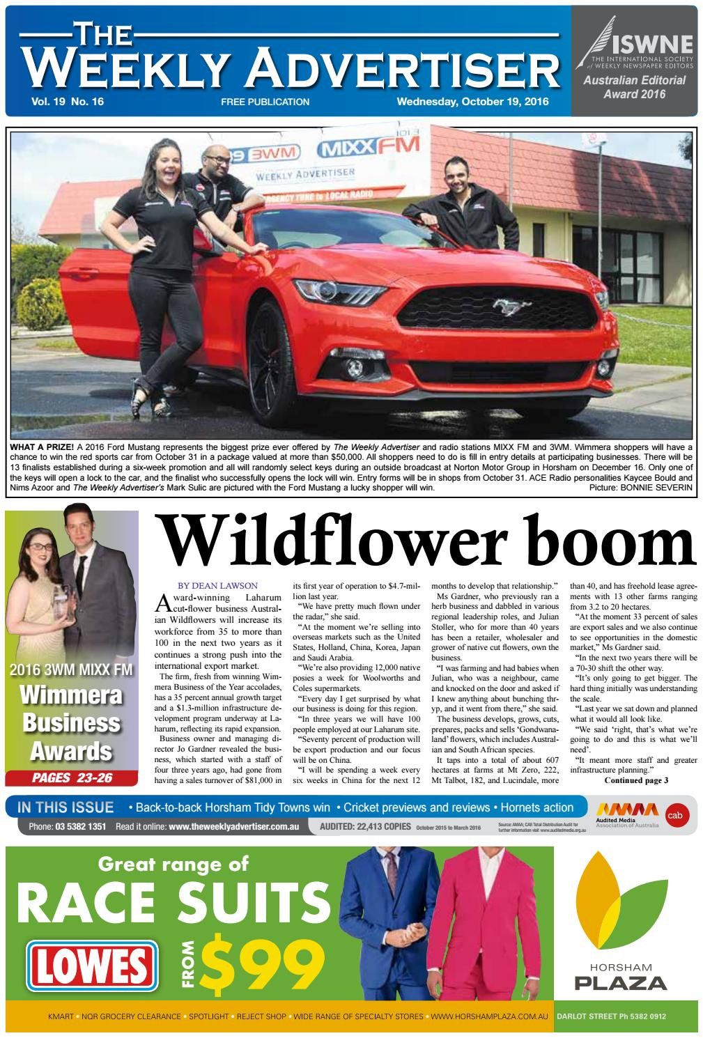 The Weekly Advertiser - Wednesday, October 19, 2016 by The