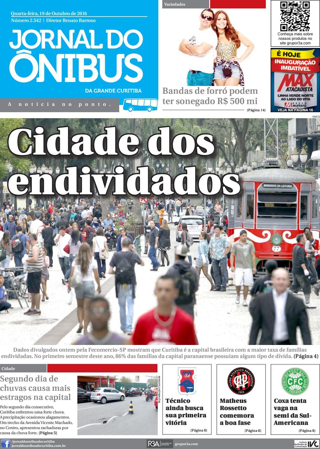 13780ac93 Jornal do Onibus de Curitiba - Edição do dia 19-10-2016 by Editora Correio  Paranaense - issuu