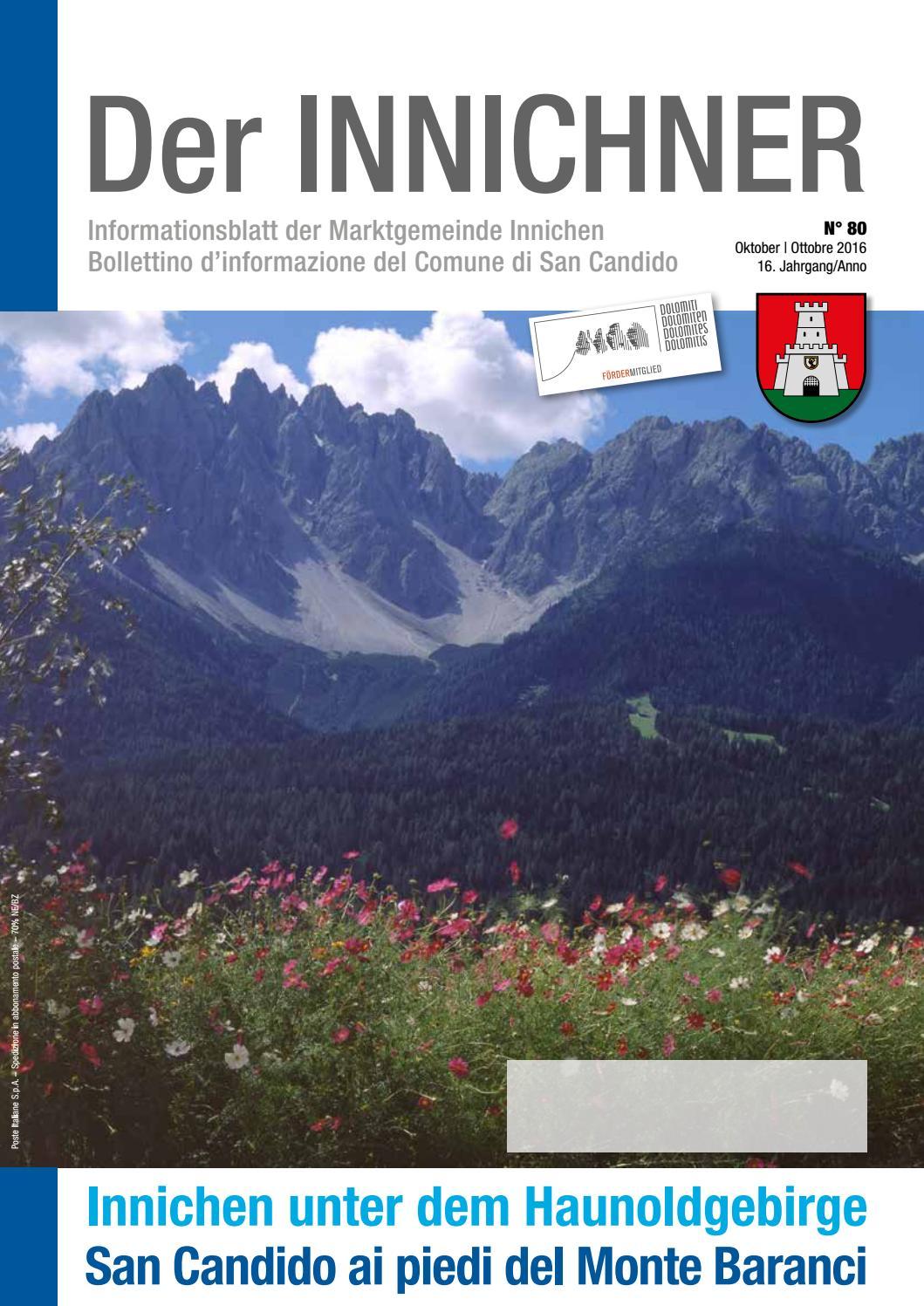 Nr./n. 80 2016 Der Innichner by Gemeinde Innichen - issuu