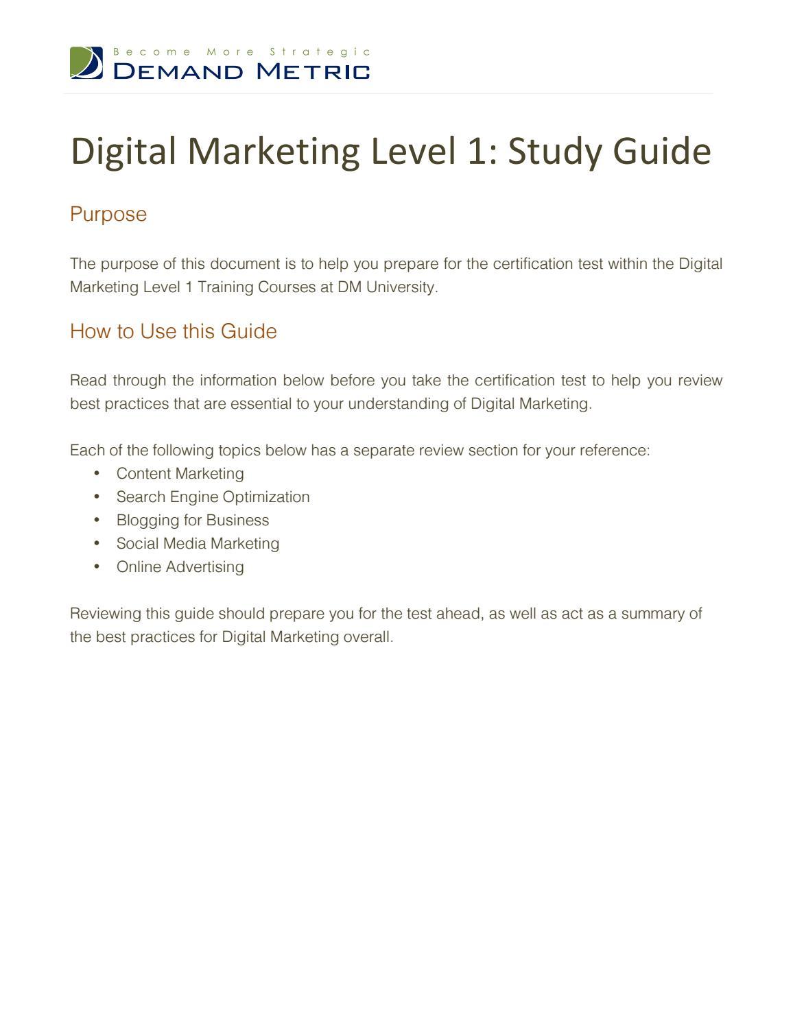 Digital marketing certification test study guide level 1 by pahmi digital marketing certification test study guide level 1 by pahmi ritonga issuu xflitez Choice Image