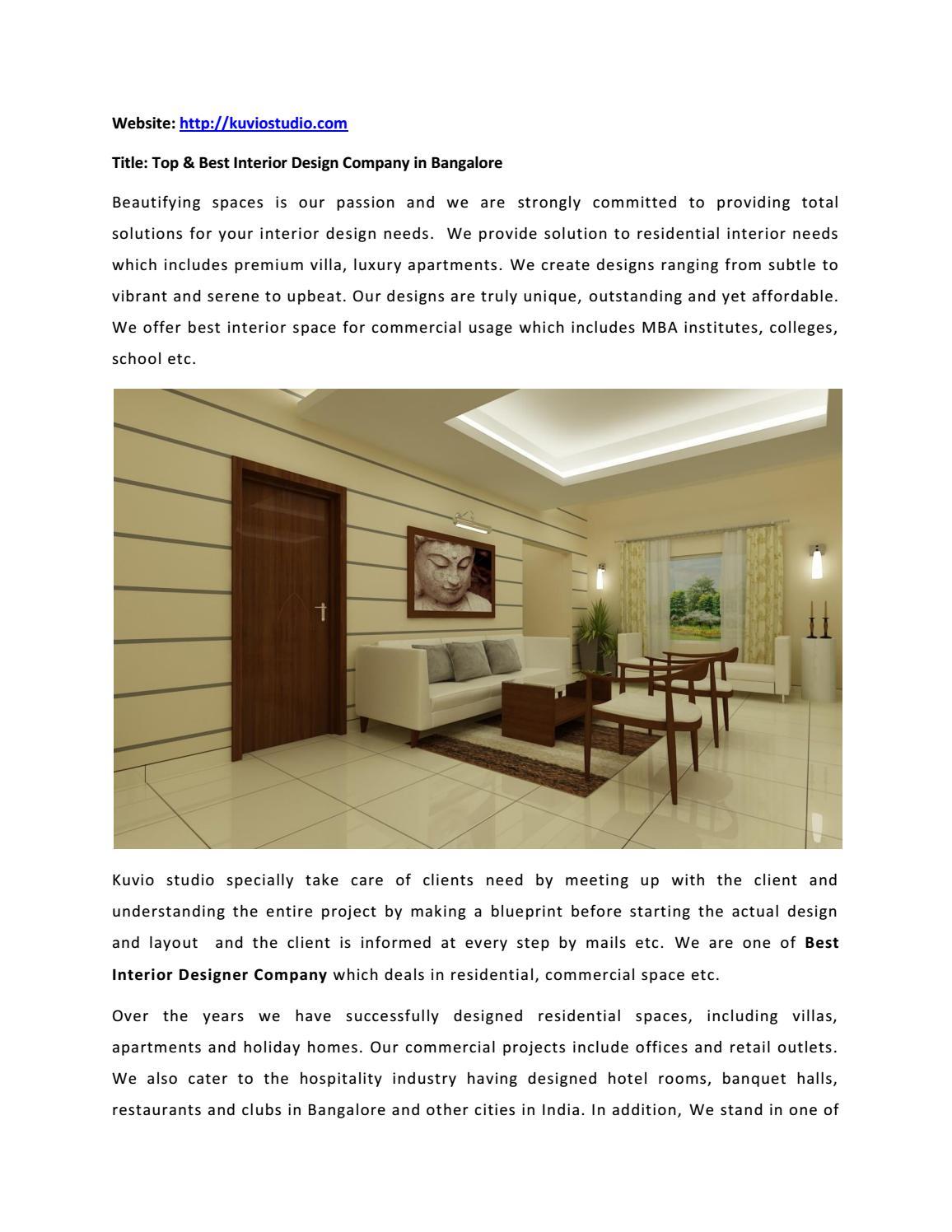 Best Home Residential Interior Designer Company By Kuvio Studio Issuu