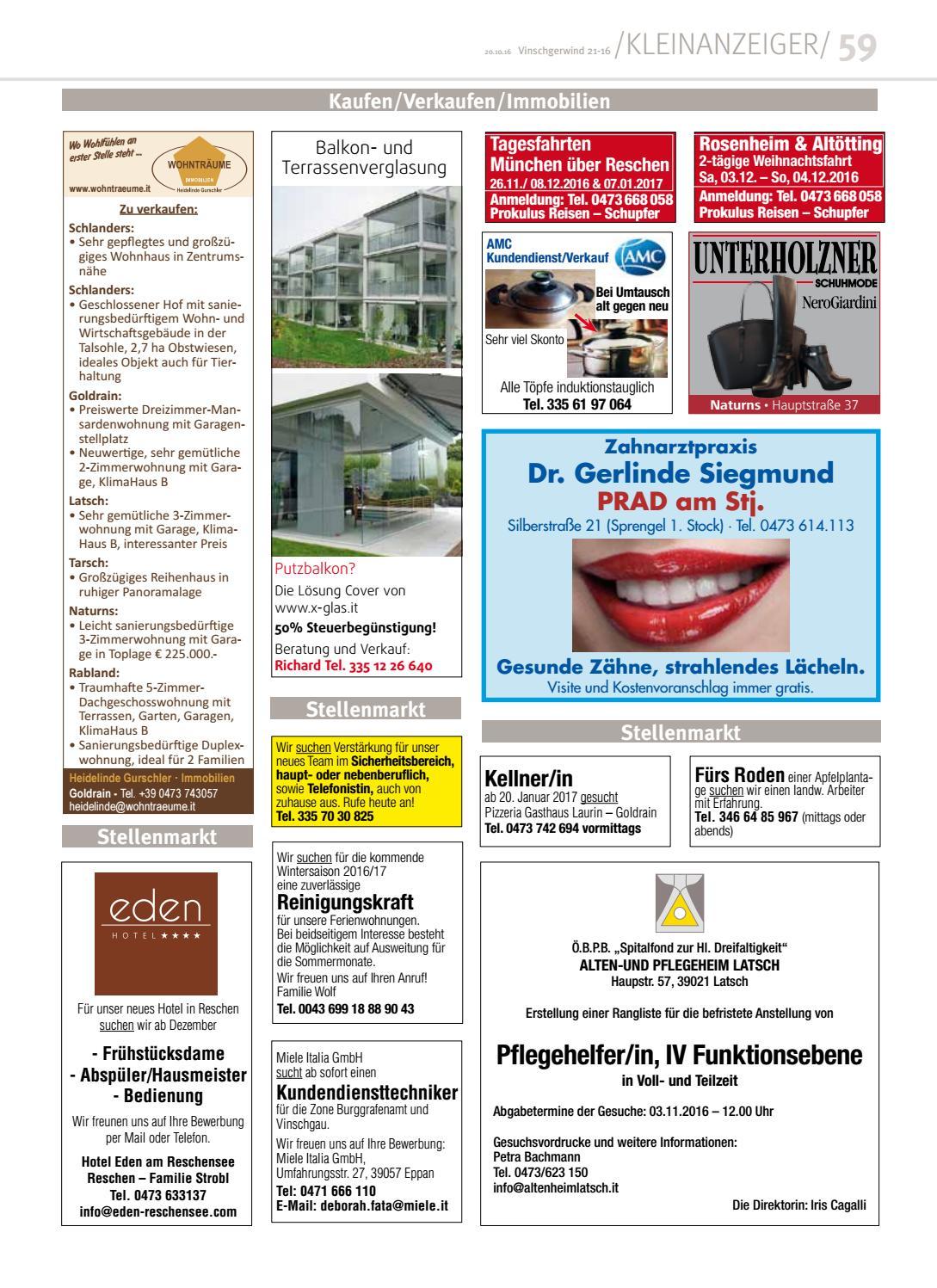 Zeitung Vinschgerwind Ausgabe 21-16 Vinschgau Südtirol by Vinschgerwind -  issuu