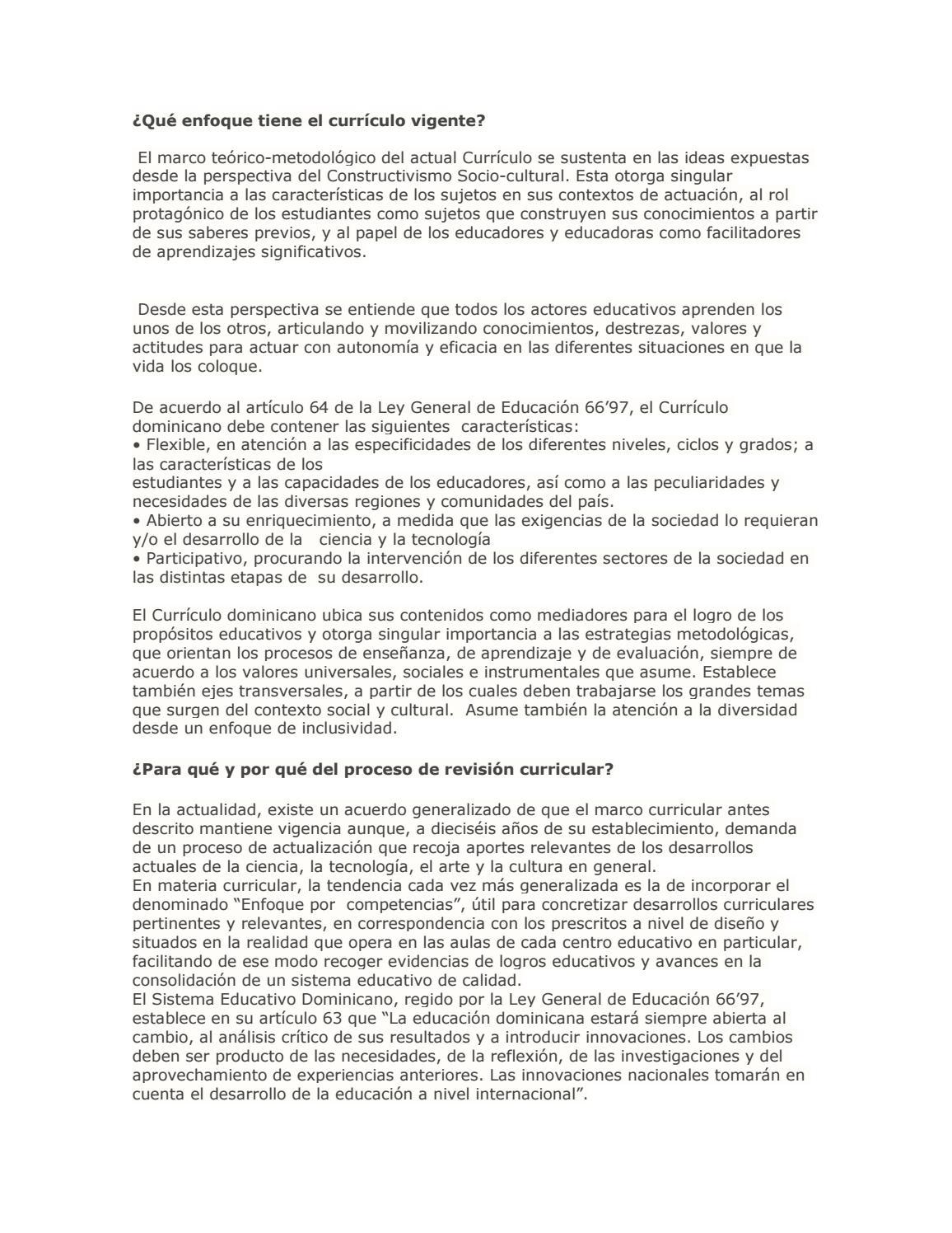 Qué enfoque tiene el currículo vigente by Eliana Margarita Páez de ...