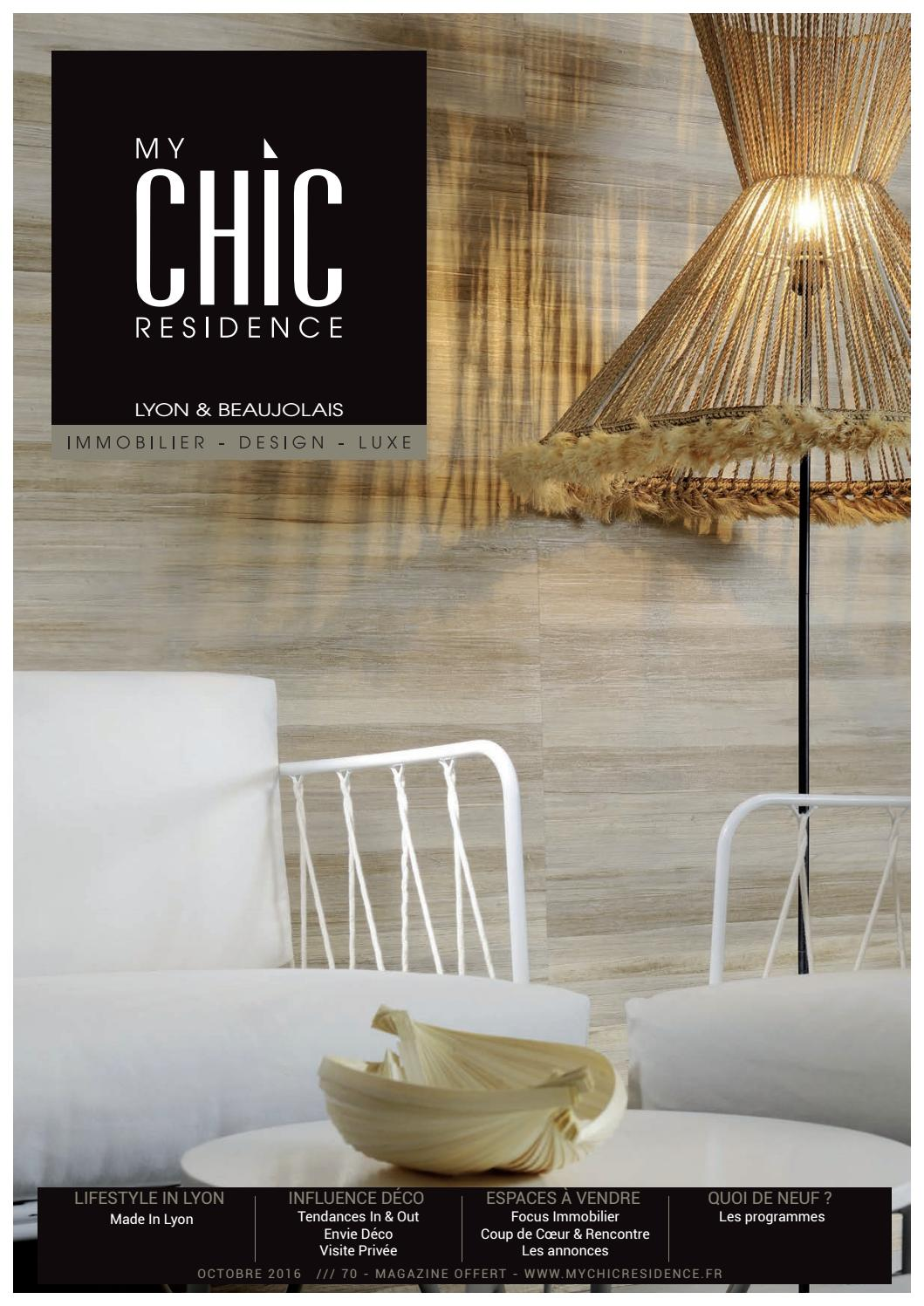 My Chic Residence 70 Octobre 2016 By My Chic Residence Issuu