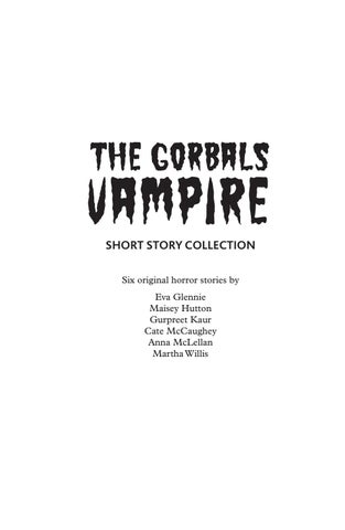 The Gorbals Vampire Short Horror Stories by Citizens Theatre - issuu