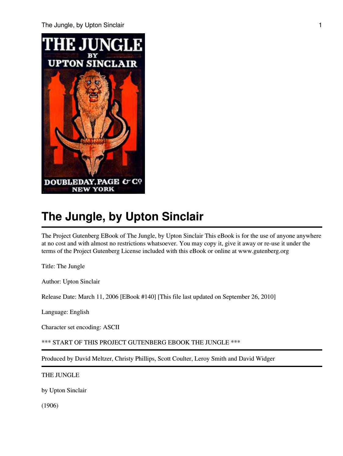 the jungle upton sinclair summary