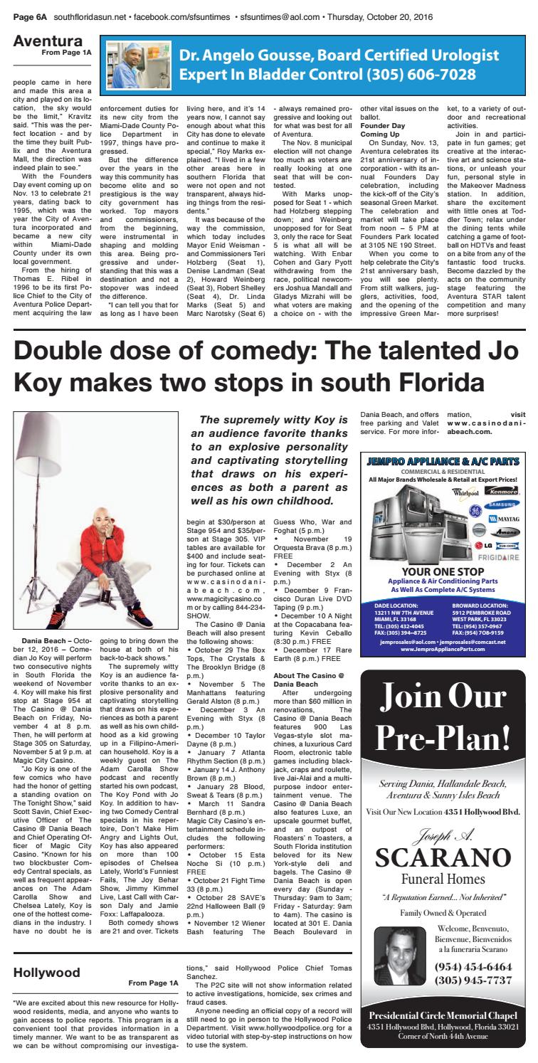 Sun Times Issue 10 20 16 by The South Florida Sun Times