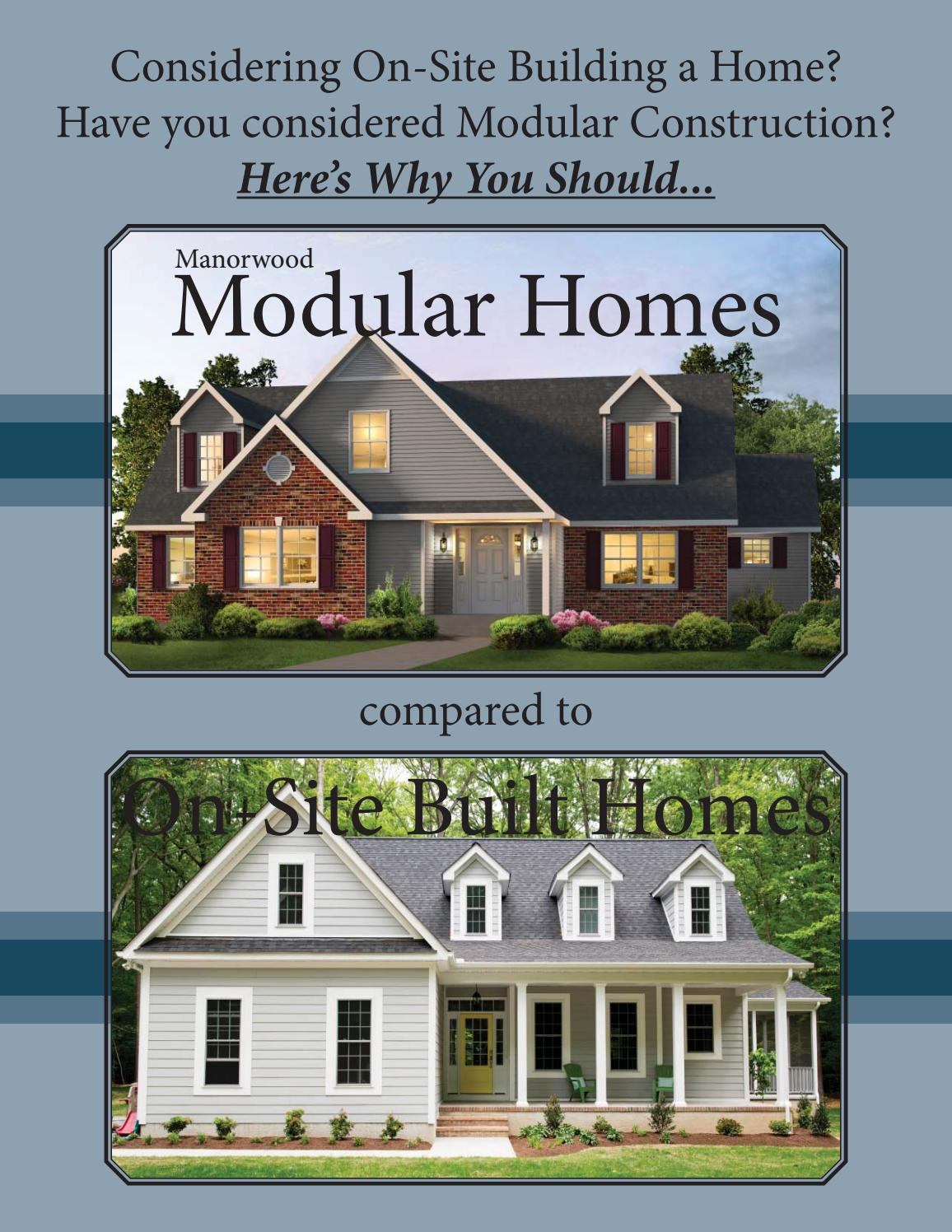 Manorwood homes mod vs on site built by the commodore - Modular home vs stick built ...