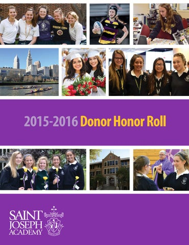 2015 2016 Donor Honor Roll