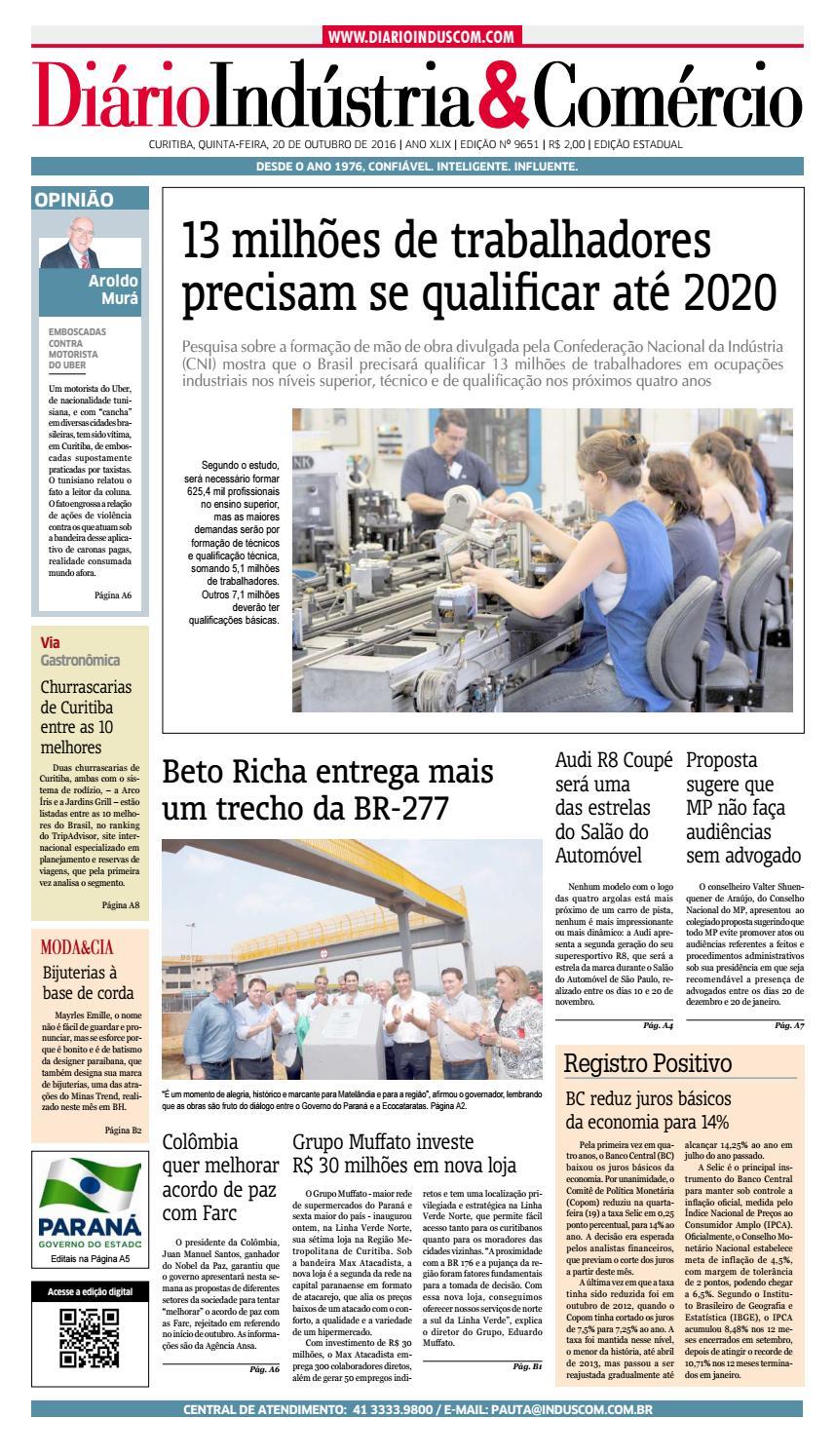 1282a537e4 Diário Indústria&Comércio - 20 de outubro de 2016 by Diário Indústria &  Comércio - issuu