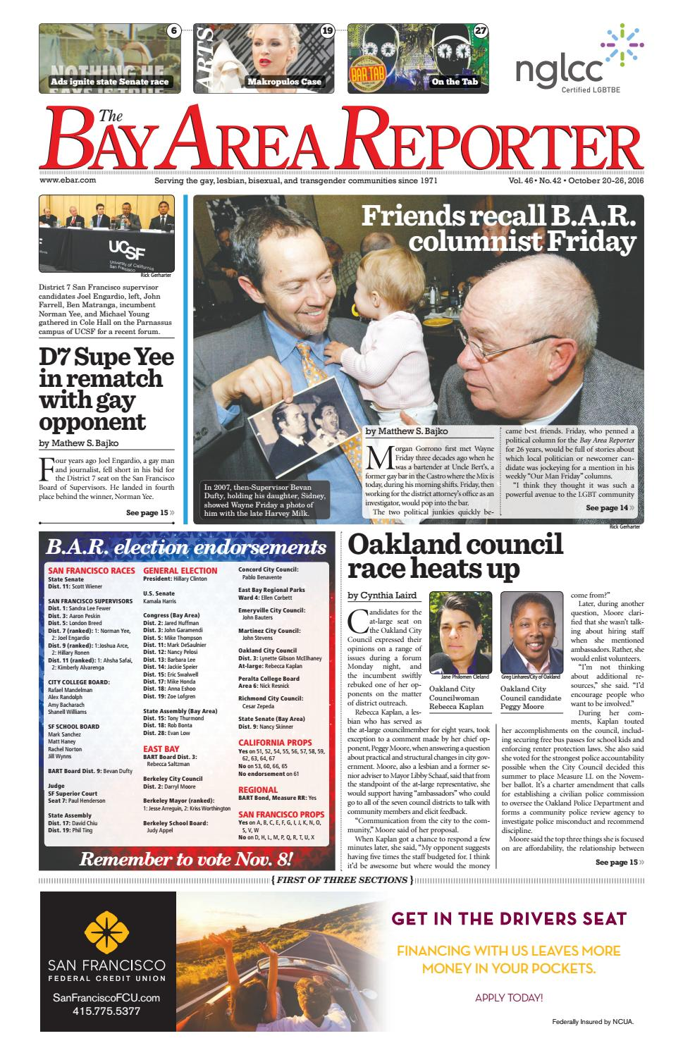 Bay Area Reporter : The october edition of bay area reporter by