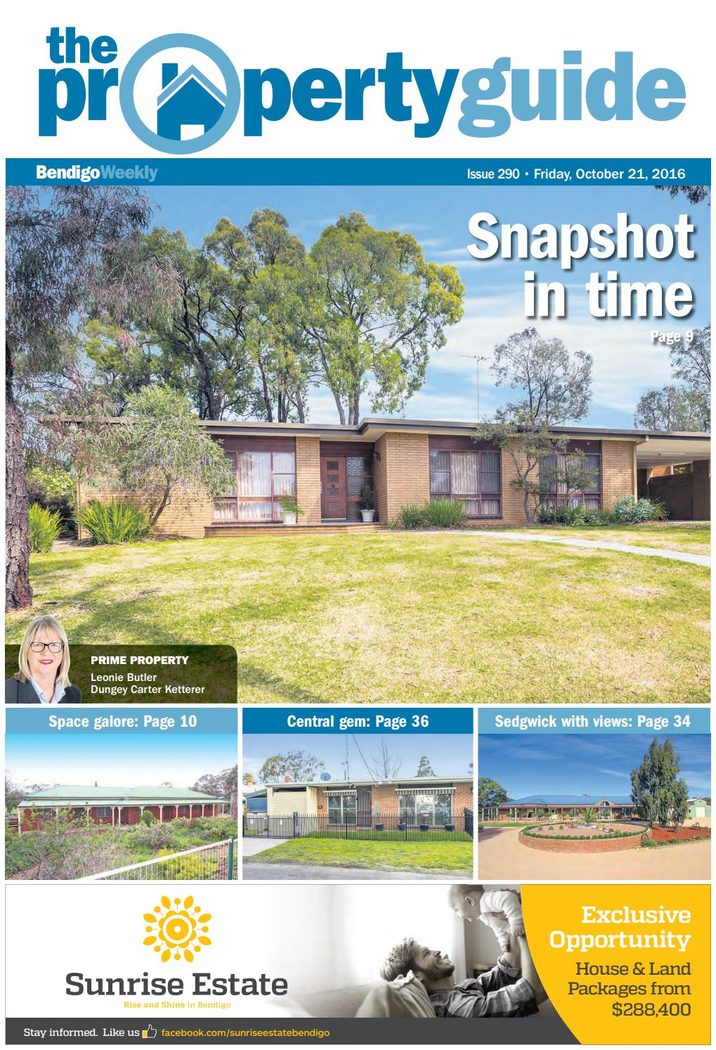 Bendigo weekly property guide issue 290 fri oct 21
