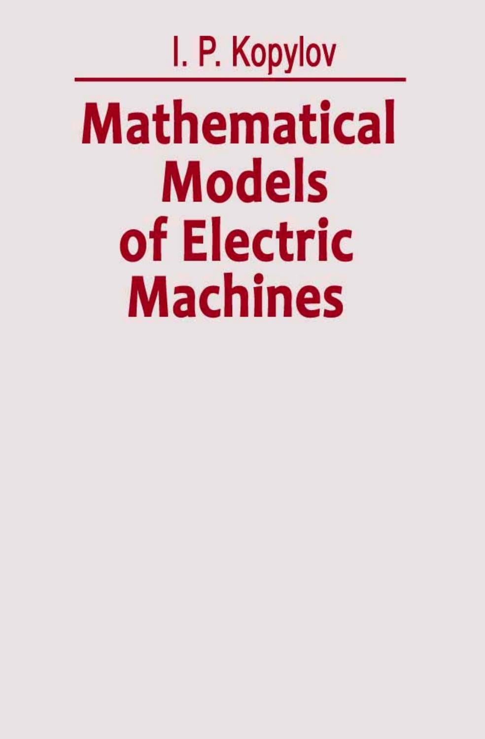 mathematical models of electric machines i p kopylov by blog da engenharia de produo issuu - Wie Man Ein Kingsizekopfteil Aus Einer Alten Tr Macht