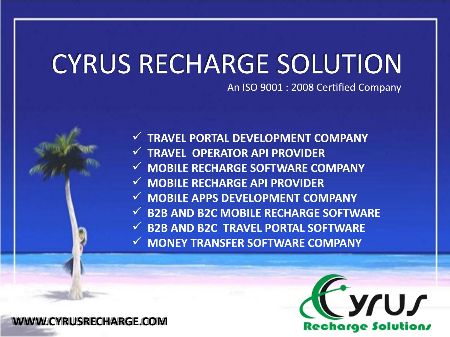 Cyrus recharge solution largest software company in india by Cyrus