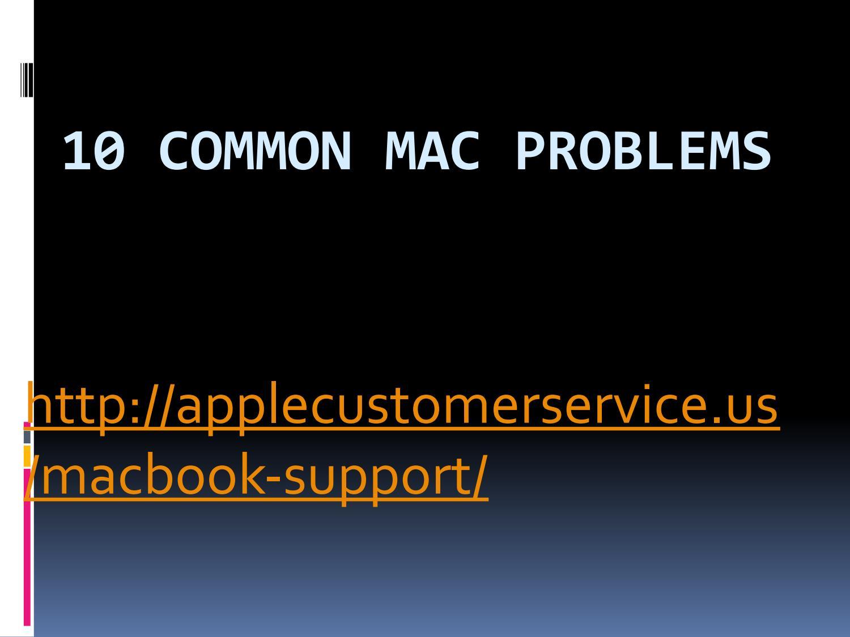 Common mac problems