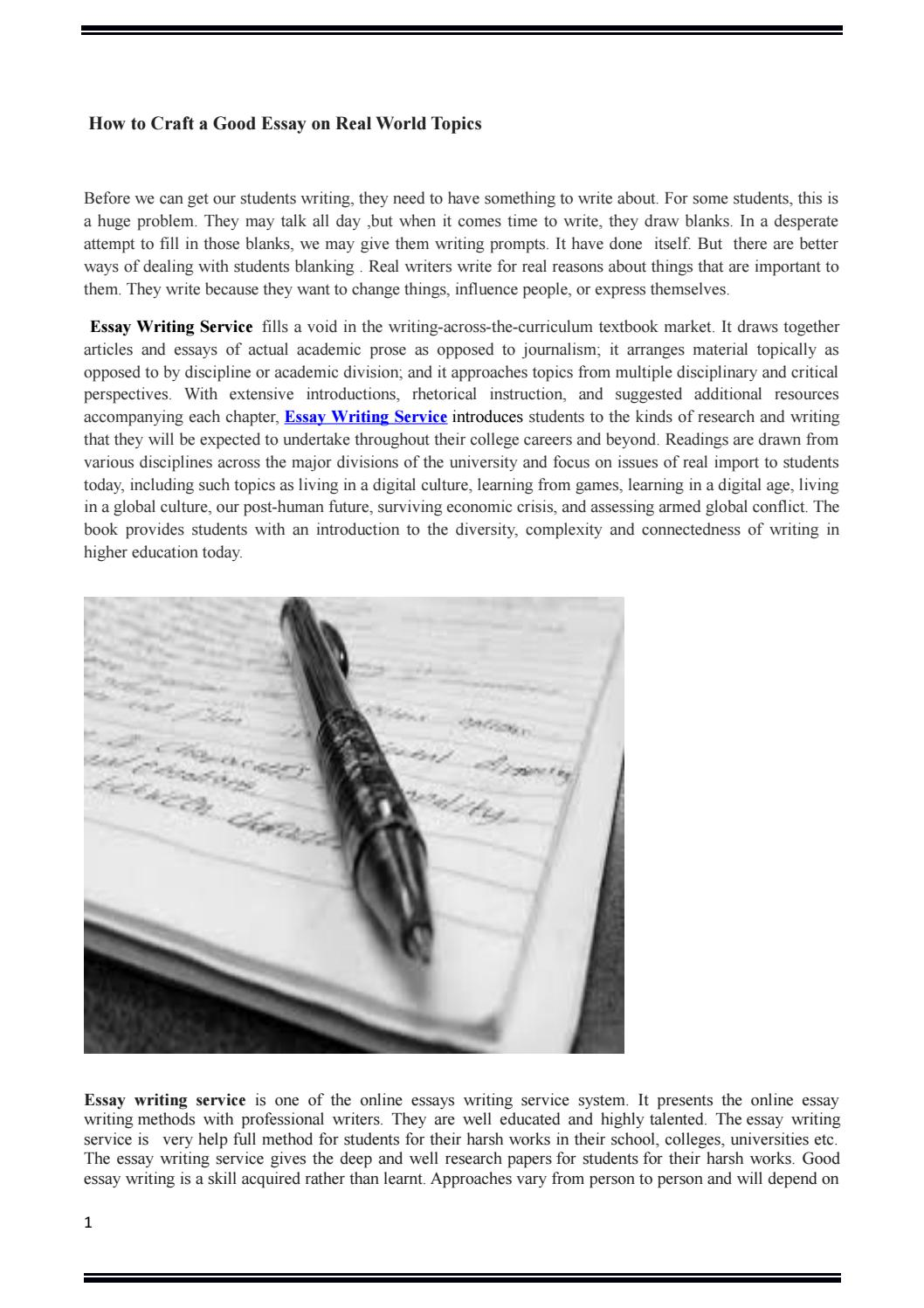 real world congruency essay