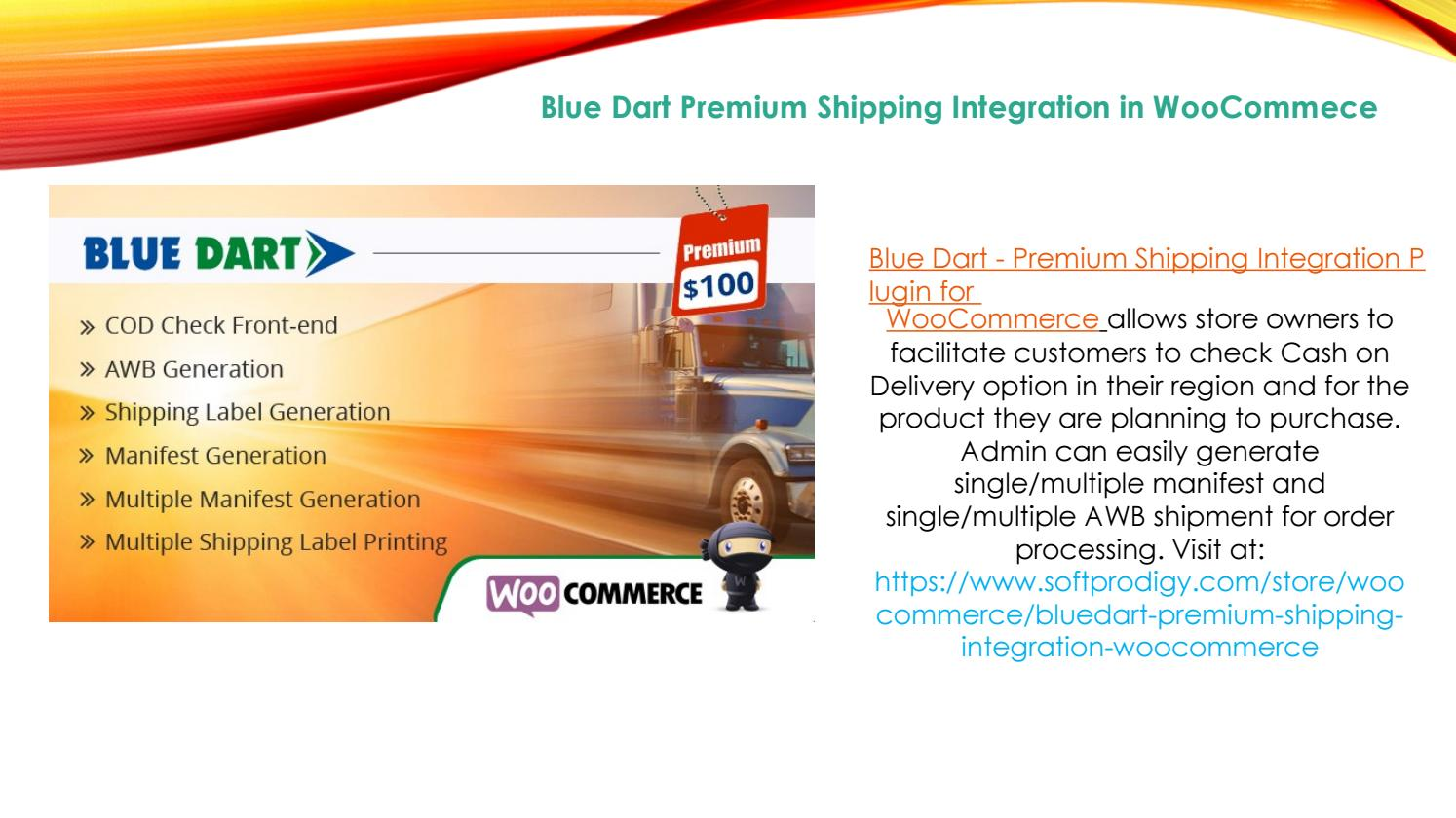 Blue Dart Shipping Integration with WooCommerce by Zoe Silva - issuu