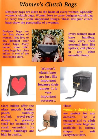 a2d83b191d Women s Clutch Bags by Emily Xavier - issuu