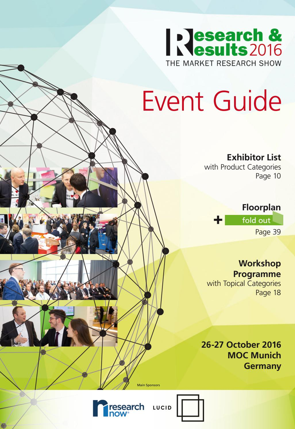 Research & Results - Event Guide 2016 by Research & Results - issuu