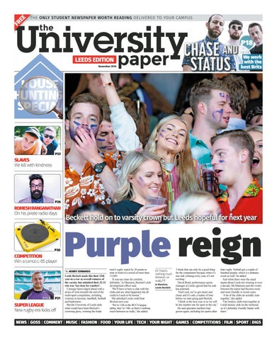 Leeds November 2016 by The University Paper - issuu
