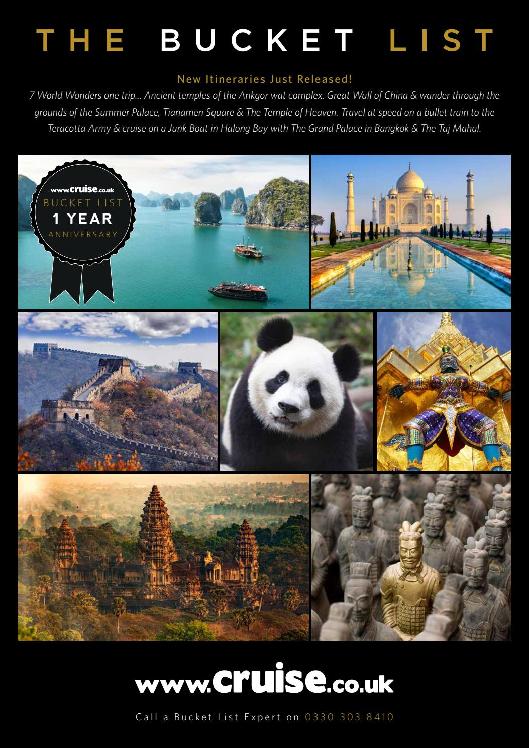 1587 tailor made bucket list 16pp DM by Cruise co uk - issuu
