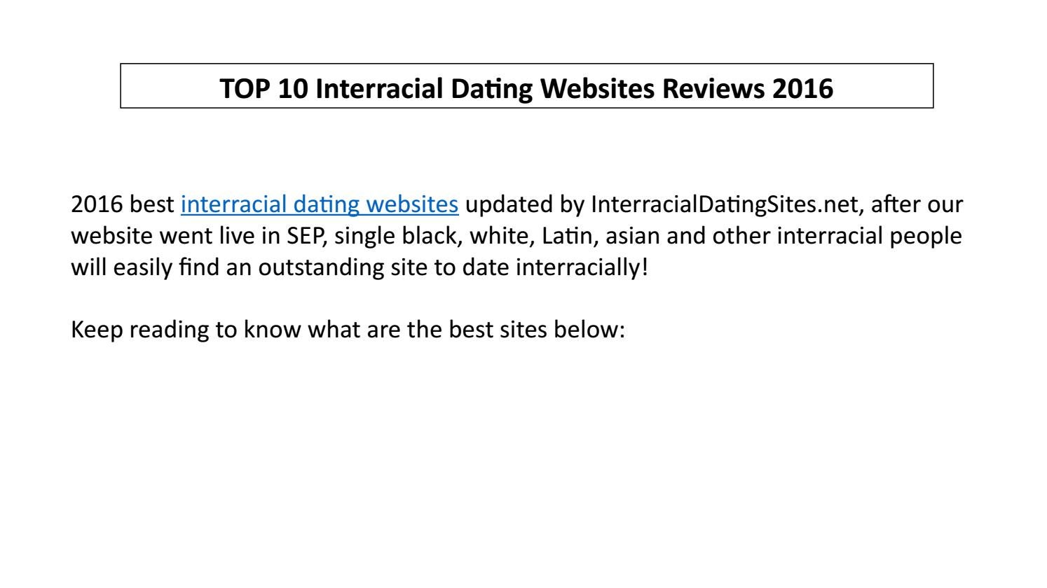 dating website reviews 2016