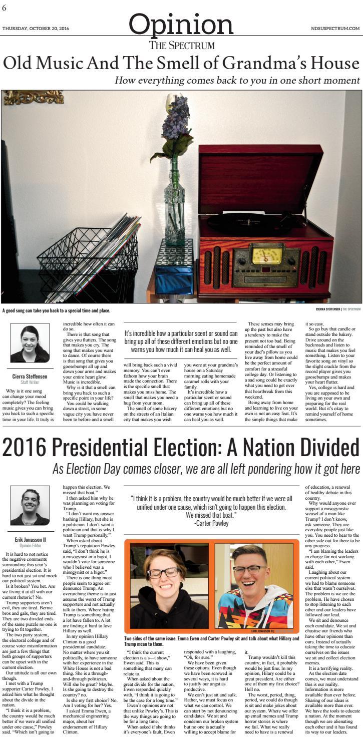 NDSU Spectrum | October 20, 2016 by NDSU Spectrum - issuu