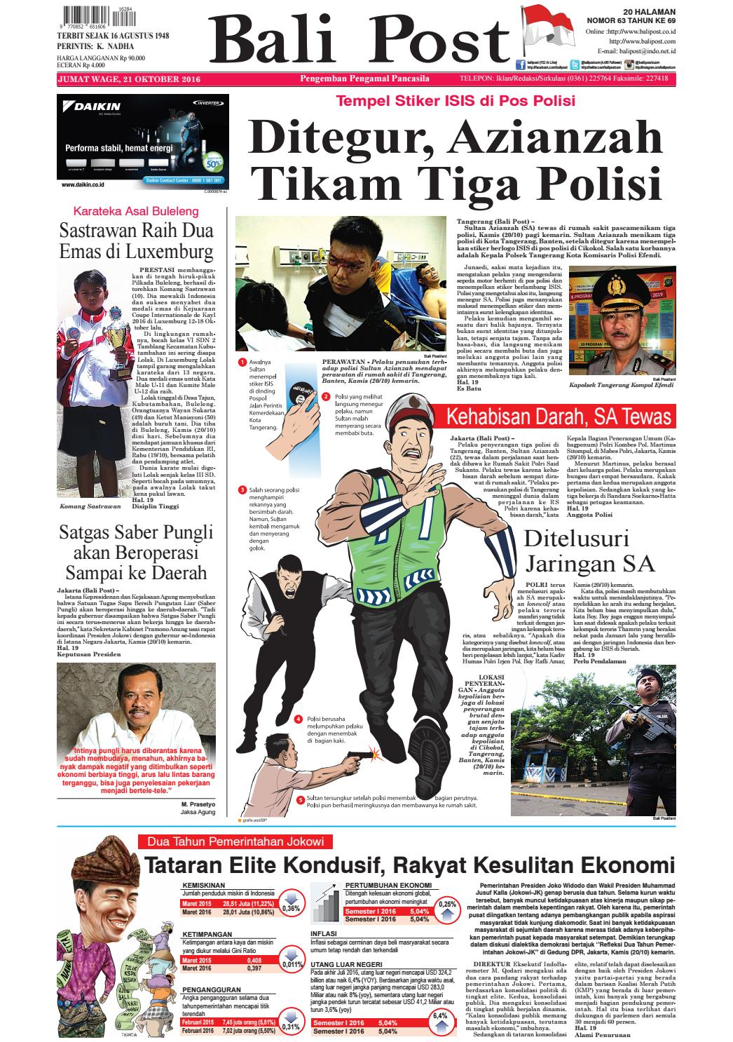 Edisi 21 Oktober 2016 Balipostcom By E Paper KMB Issuu