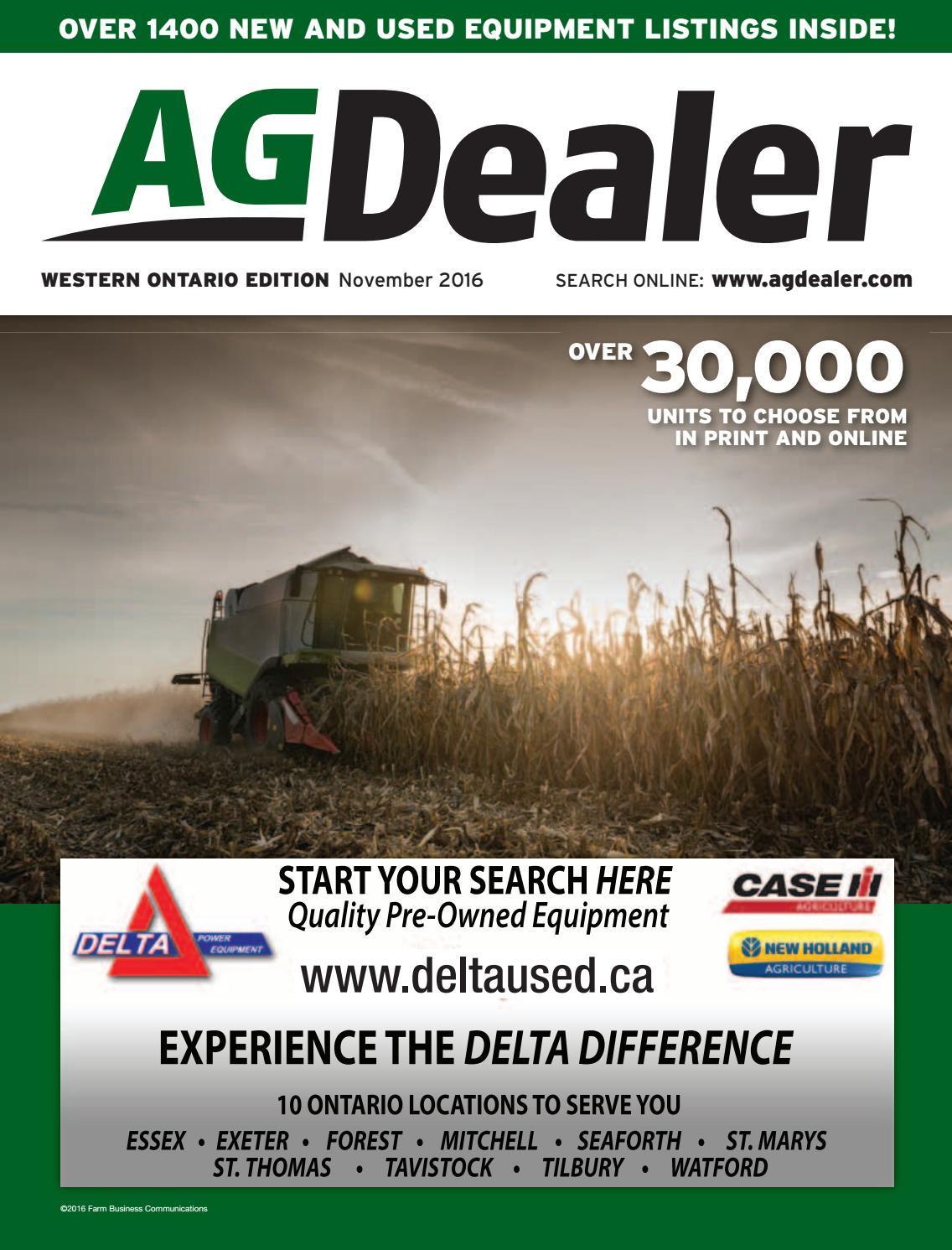 AGDealer Western Ontario Edition, November 2016 by Farm Business