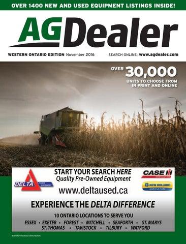 AGDealer Western Ontario Edition, November 2016 by Farm