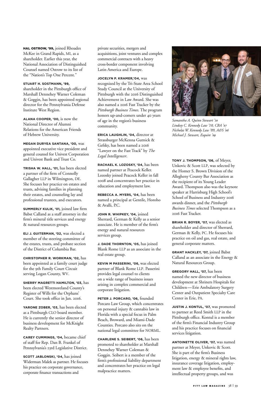 Pitt Law Magazine | Fall 2016 by University of Pittsburgh