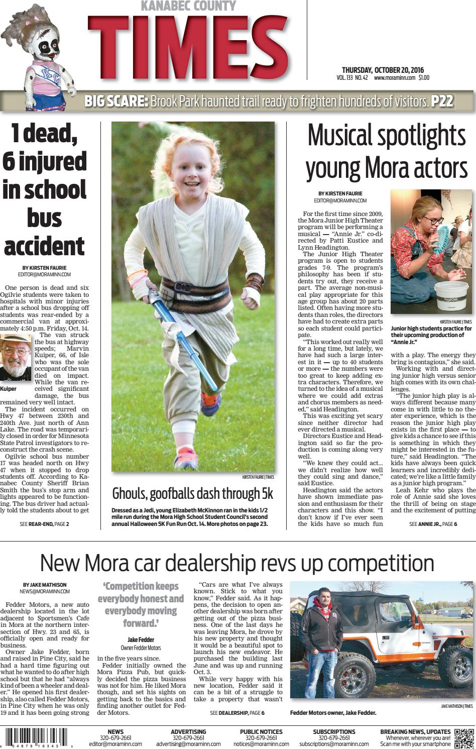Kanabec County Times E-edition Oct  20, 2016 by Kanabec