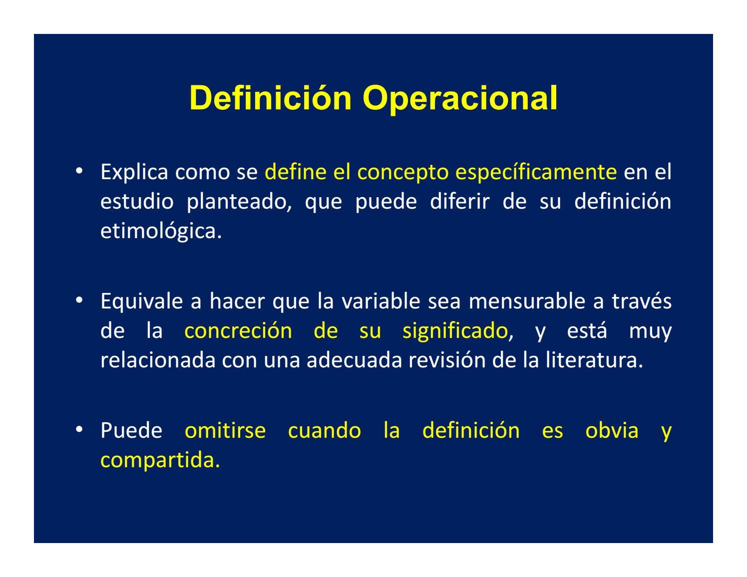 Como hacer una definicion operacional