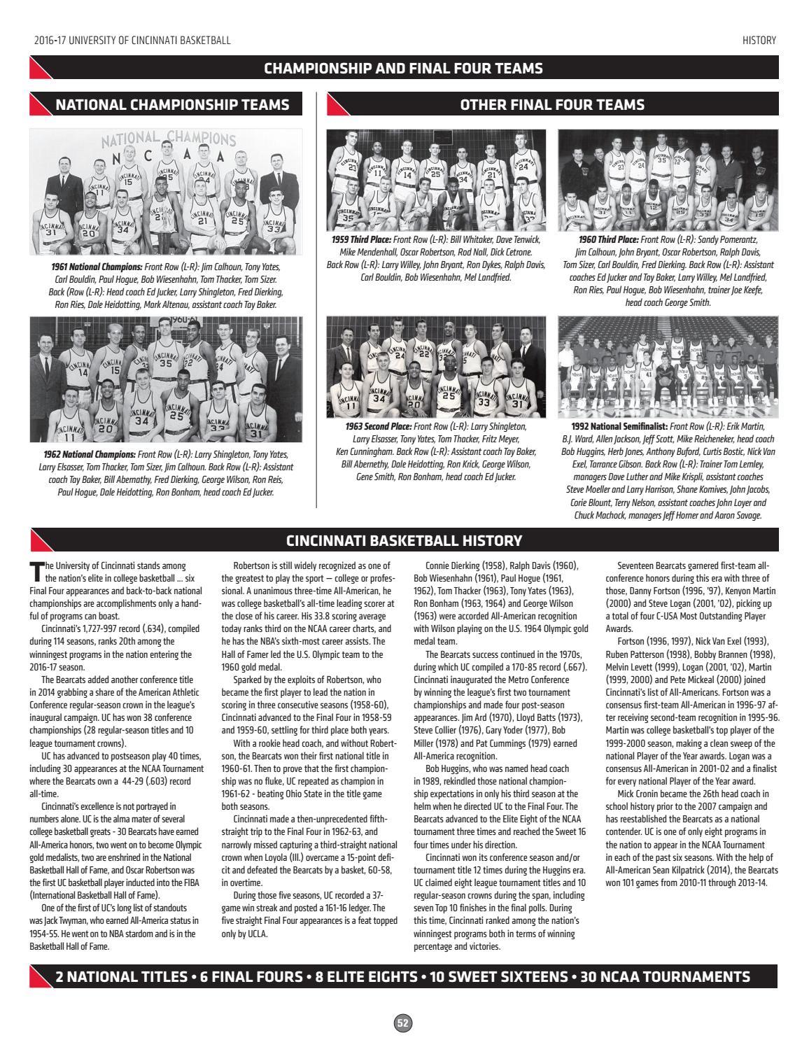 National Ch s besides Y2VaTVqoRYk moreover Forum thread additionally 54 also 1960–61 Ohio State Buckeyes Men's Basketball Team. on tay baker cincinnati